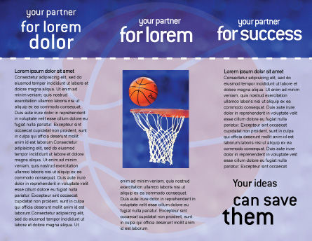 Basketball Match Brochure Template Inner Page