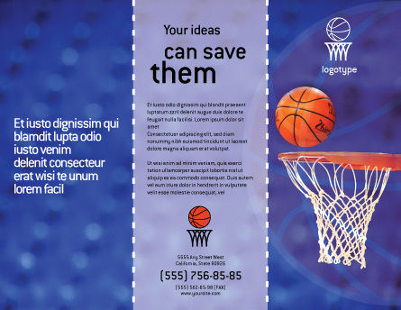 Basketball Match Brochure Template Outer Page