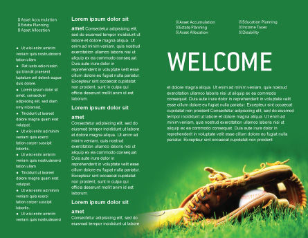 Baseball Glove and Bat Brochure Template, Inner Page, 01833, Sports — PoweredTemplate.com