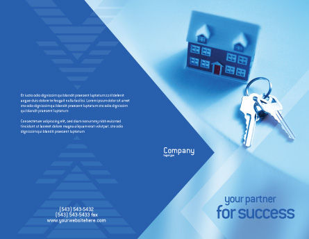 Real Estate Brochure Template, Outer Page, 01859, Careers/Industry — PoweredTemplate.com