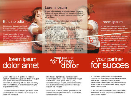 Volleyball Brochure Template, Inner Page, 01862, Sports — PoweredTemplate.com