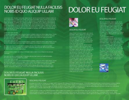 Stretcher Brochure Template, Inner Page, 01865, Medical — PoweredTemplate.com