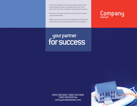 Property Insurance Brochure Template, Outer Page, 01878, Business Concepts — PoweredTemplate.com