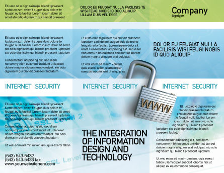 Data Security Brochure Template, Outer Page, 01879, Abstract/Textures — PoweredTemplate.com