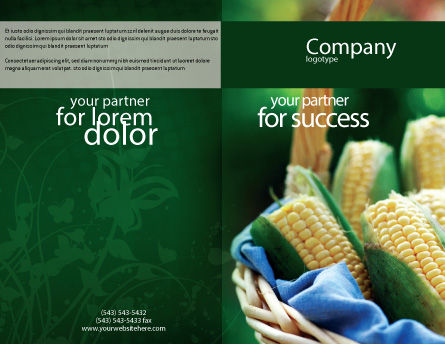 Corn Brochure Template Outer Page