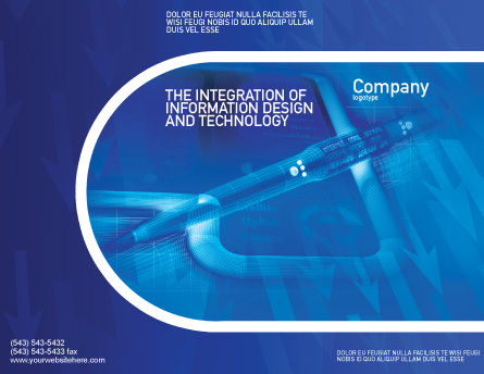 High Tech Digital Pen Brochure Template, Outer Page, 01890, Technology, Science & Computers — PoweredTemplate.com