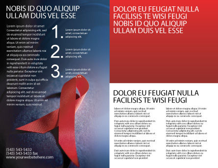 AIDS Brochure Template, Inner Page, 01892, Medical — PoweredTemplate.com
