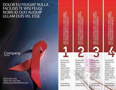 AIDS Brochure Template Outer Page
