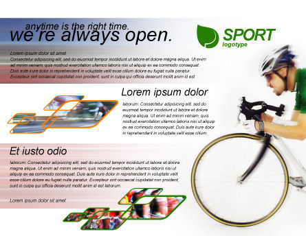 Tour de France Brochure Template Inner Page