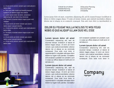 Interior In Violet Brochure Template, Inner Page, 01896, Consulting — PoweredTemplate.com