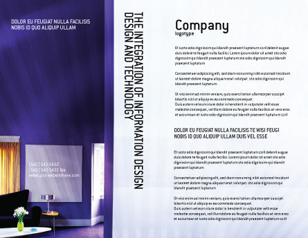 Interior In Violet Brochure Template, Outer Page, 01896, Consulting — PoweredTemplate.com