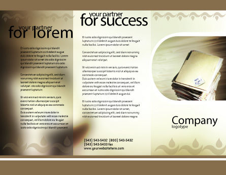 Document Management Brochure Template Outer Page