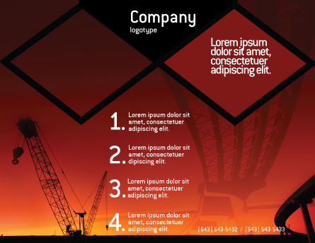 Road Building Brochure Template, Outer Page, 01909, Construction — PoweredTemplate.com