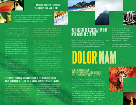 Brazilian Flag Brochure Template, Inner Page, 01915, Flags/International — PoweredTemplate.com