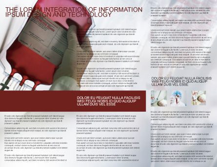 Blood Transfusion Brochure Template, Inner Page, 01917, Medical — PoweredTemplate.com