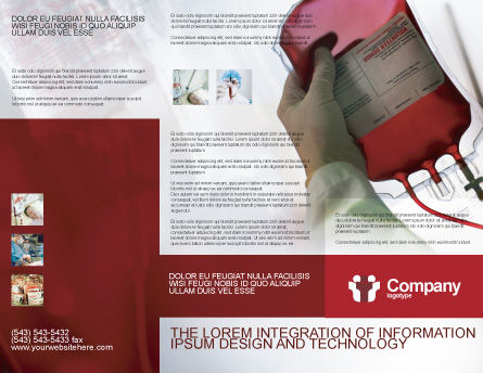 Blood Transfusion Brochure Template, Outer Page, 01917, Medical — PoweredTemplate.com