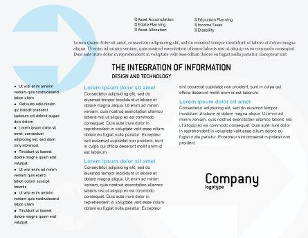 Modern Telecommunication Brochure Template, Inner Page, 01926, Telecommunication — PoweredTemplate.com
