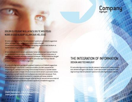 Modern Telecommunication Brochure Template, Outer Page, 01926, Telecommunication — PoweredTemplate.com