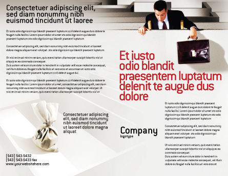 Profit Brochure Template, Outer Page, 01928, Careers/Industry — PoweredTemplate.com