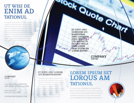 Stock-Market Brochure Template, Outer Page, 01931, Financial/Accounting — PoweredTemplate.com