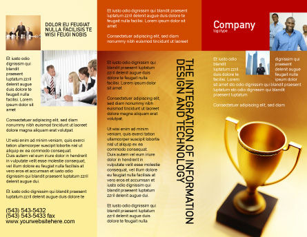 Winner Cup Brochure Template, Outer Page, 01933, Sports — PoweredTemplate.com