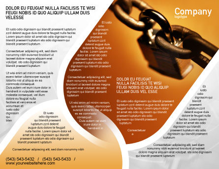Lock This Chain Brochure Template, Outer Page, 01934, Consulting — PoweredTemplate.com