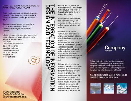Internet Links Brochure Template, Outer Page, 01935, Telecommunication — PoweredTemplate.com