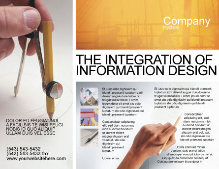 Draftsman Brochure Template, Outer Page, 01937, Careers/Industry — PoweredTemplate.com