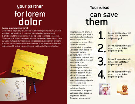 Drawing Brochure Template Inner Page