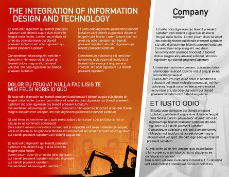 Silhouettes Of Excavators Brochure Template, Inner Page, 01940, Utilities/Industrial — PoweredTemplate.com