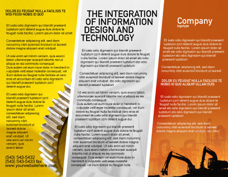 Silhouettes Of Excavators Brochure Template, Outer Page, 01940, Utilities/Industrial — PoweredTemplate.com