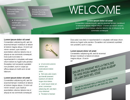 Solution Brochure Template, Inner Page, 01946, Business Concepts — PoweredTemplate.com