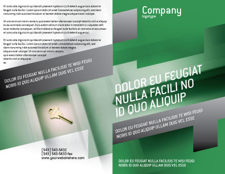 Solution Brochure Template Outer Page