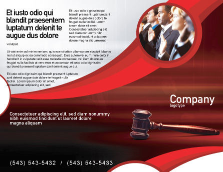 Judge Mallet Brochure Template Outer Page