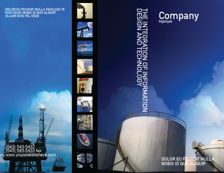 Fuel Tank Brochure Template Outer Page