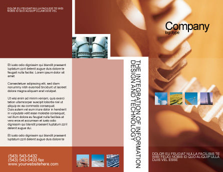 Gear Brochure Template, Outer Page, 01959, Construction — PoweredTemplate.com