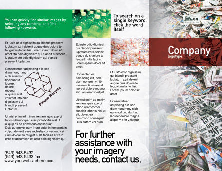 Recycle Industry Brochure Template Outer Page