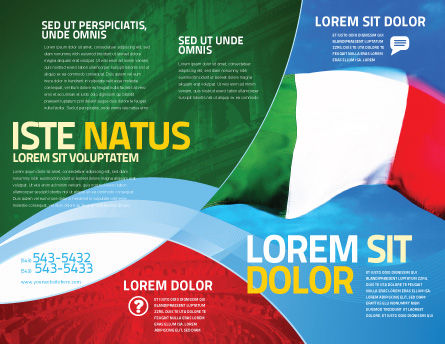 Italian Flag Brochure Template Outer Page