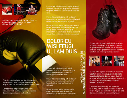 Boxing Training Brochure Template, Inner Page, 01965, Sports — PoweredTemplate.com