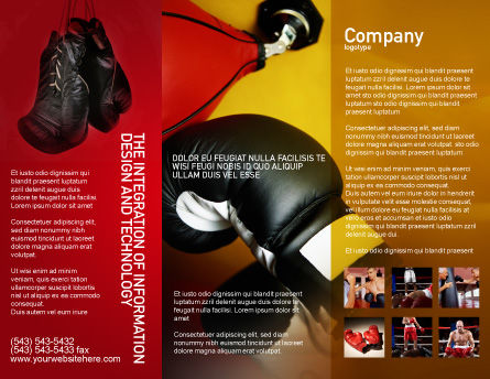 Boxing Training Brochure Template, Outer Page, 01965, Sports — PoweredTemplate.com