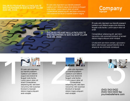 Puzzle of World Brochure Template Outer Page
