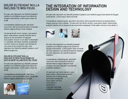 Mail Box Brochure Template, Inner Page, 01972, Telecommunication — PoweredTemplate.com