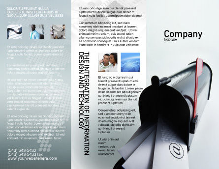 Mail Box Brochure Template, Outer Page, 01972, Telecommunication — PoweredTemplate.com