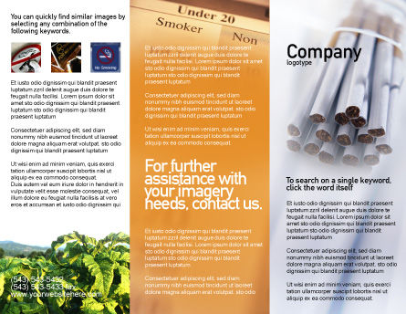 Cigarettes Brochure Template Outer Page