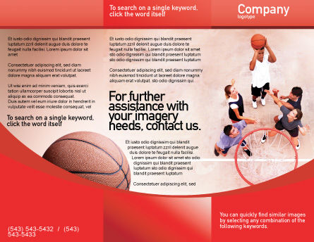 Streetball Brochure Template Outer Page