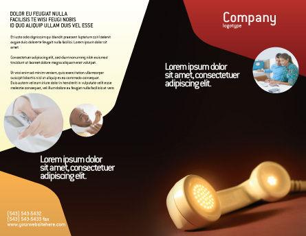Telephone Brochure Template, Outer Page, 01984, Telecommunication — PoweredTemplate.com