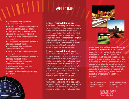Speedometer Brochure Template, Inner Page, 01985, Cars/Transportation — PoweredTemplate.com