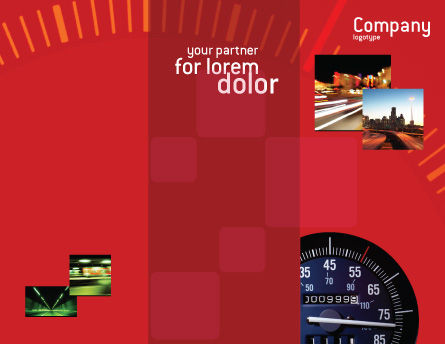 Speedometer Brochure Template, Outer Page, 01985, Cars/Transportation — PoweredTemplate.com