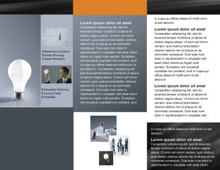 Idea Brochure Template, Inner Page, 01989, Business Concepts — PoweredTemplate.com
