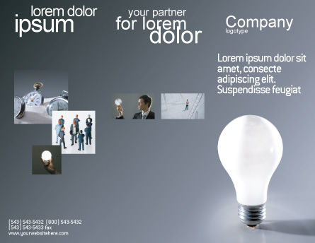 Idea Brochure Template, Outer Page, 01989, Business Concepts — PoweredTemplate.com